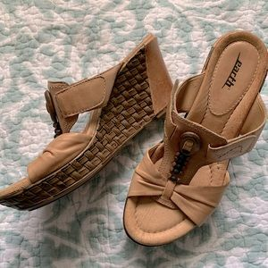 """Earth 3"""" leather sandals"""